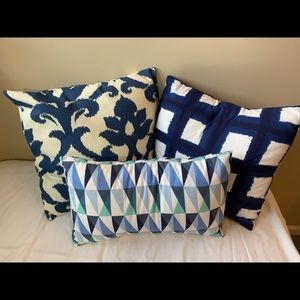 3 Modern Print Accent Cushions from Macy's